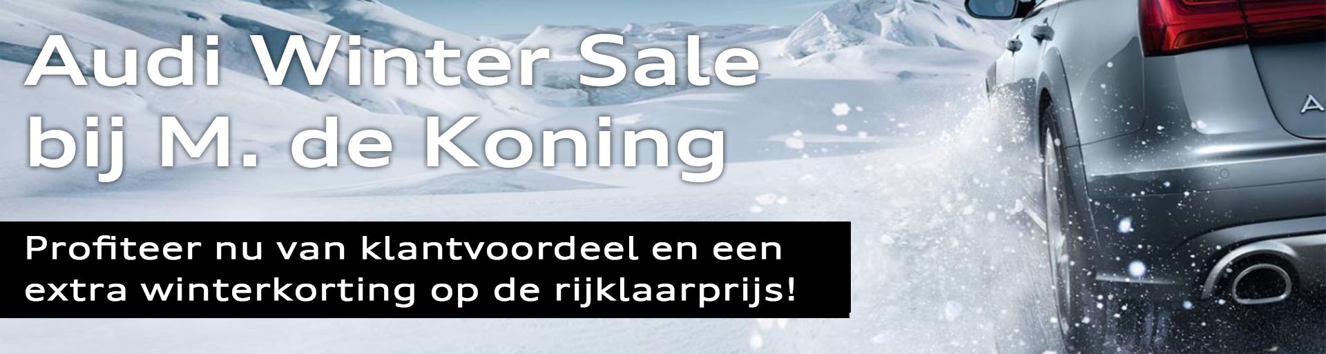 Audi winter sale